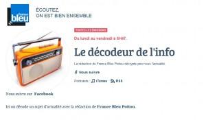 logo France Bleu et décodeur de l'info Therapeutic IMPACT sur France Bleu Poitou